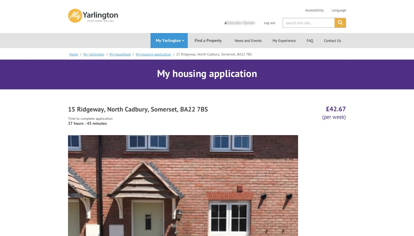 Yarlington's housing viewing system